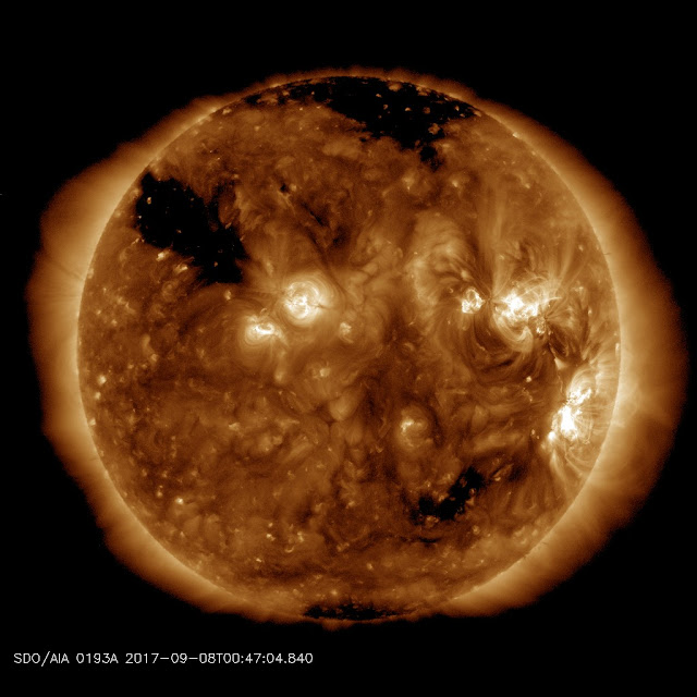 Earth is being battered by a severe G4-class geomagnetic storm  Coronalhole_sdo_blank
