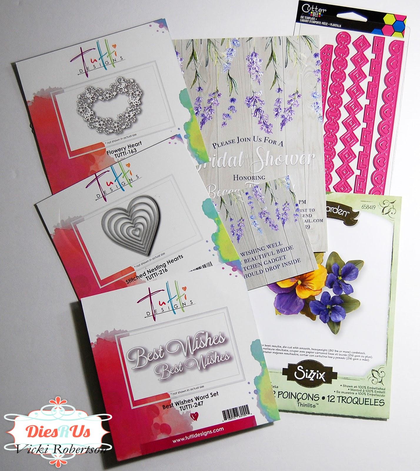 Tutti Designs Word Set Best Wishes Die