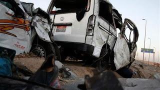 مصرع 3 أشخاص وإصابة 4 في حادث سير بالفيوم