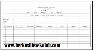 Download Contoh Format Agenda Harian Guru SD Kurikulum 2013