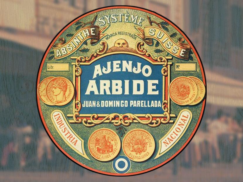 """""""Arbide"""" absinthe label (Argentina)"""