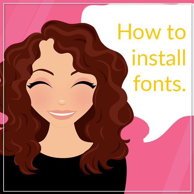 How to install fonts, Lovelytocu.com