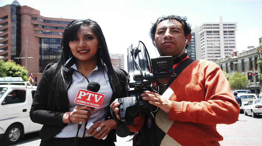 Poma y Pardo fueron a la urbe alteña para hacer la cobertura informativa el 10 de noviembre / FRANZ CHÁVEZ / ANP