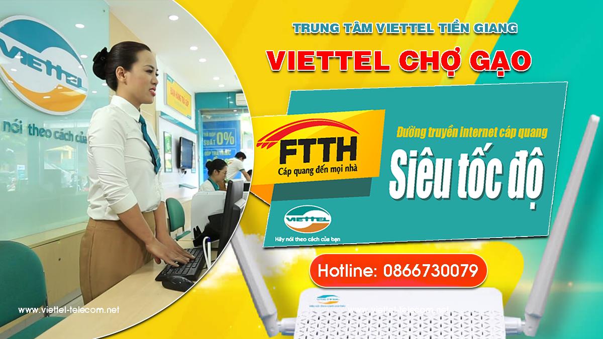 Tổng đài Viettel Chợ Gạo - Đăng ký lắp mạng Internet và Truyền hình Viettel