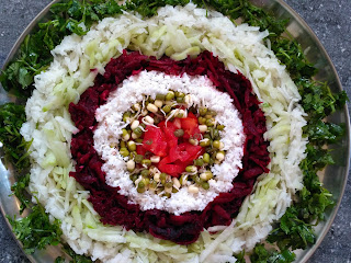 சௌசௌ, முள்ளங்கி & பீட்ரூட் கலவை