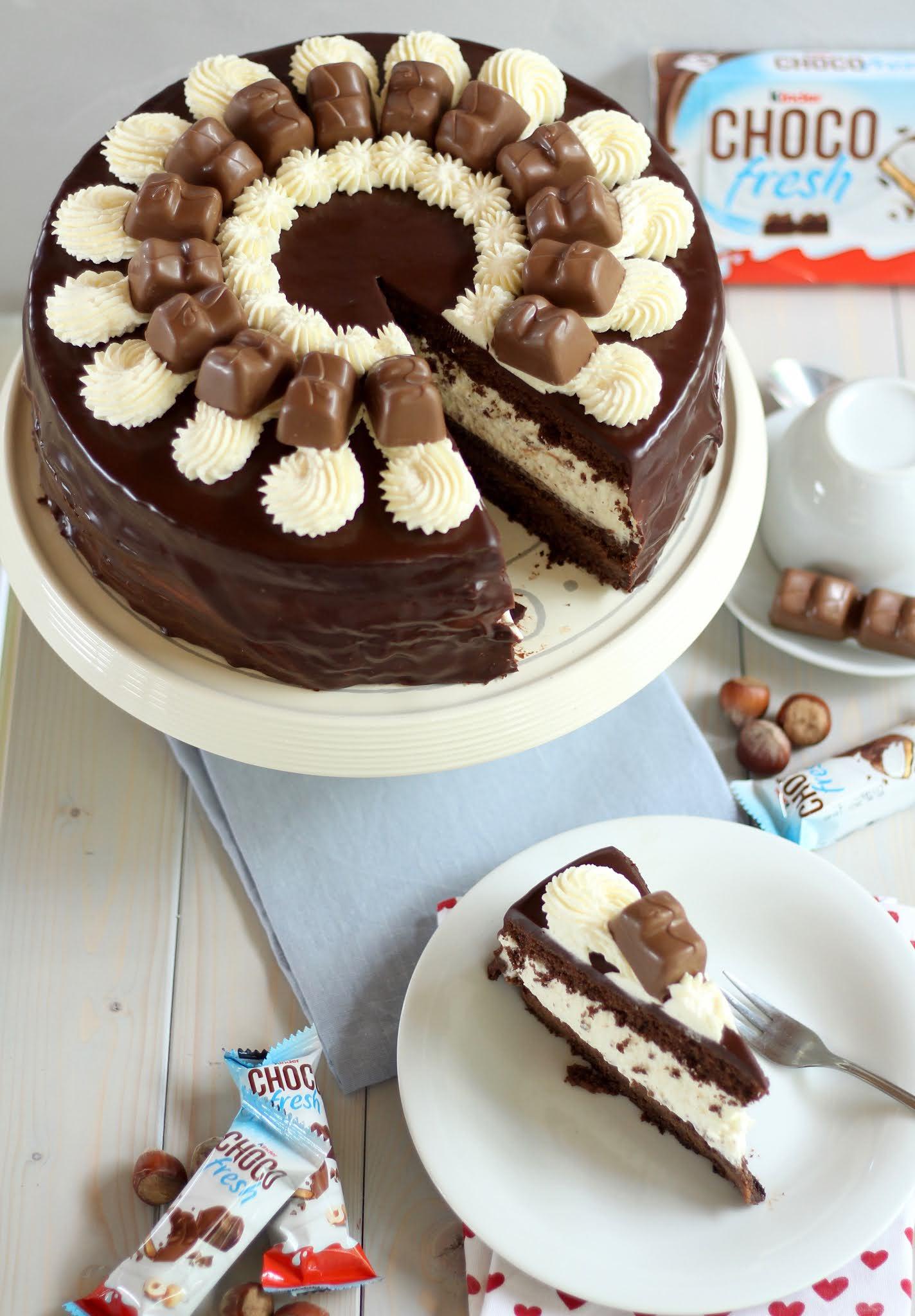 Unglaublich leckere Kinder Choco Fresh Torte: Die absolute Traumtorte! | Rezept und Video von Sugarprincess