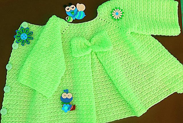 4 - Crochet Imagenes Abrigo rosa a crocher y ganchillo muy fácil y sencillo , lindo por Majovel Crochet