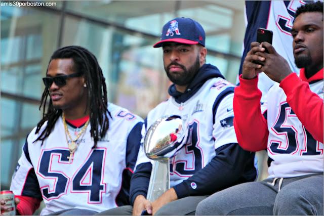 Jugadores en el Desfile de los Patriots por la Celebración de la Super Bowl LIII