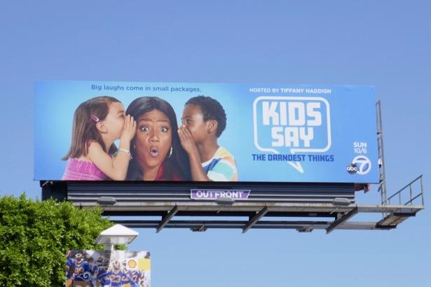Tiffany Haddish Kids Say the Darnedest Things billboard
