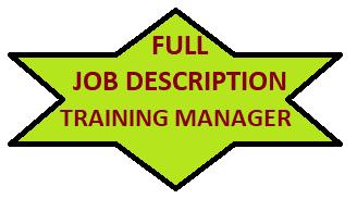 Full Job Description of Training Manager