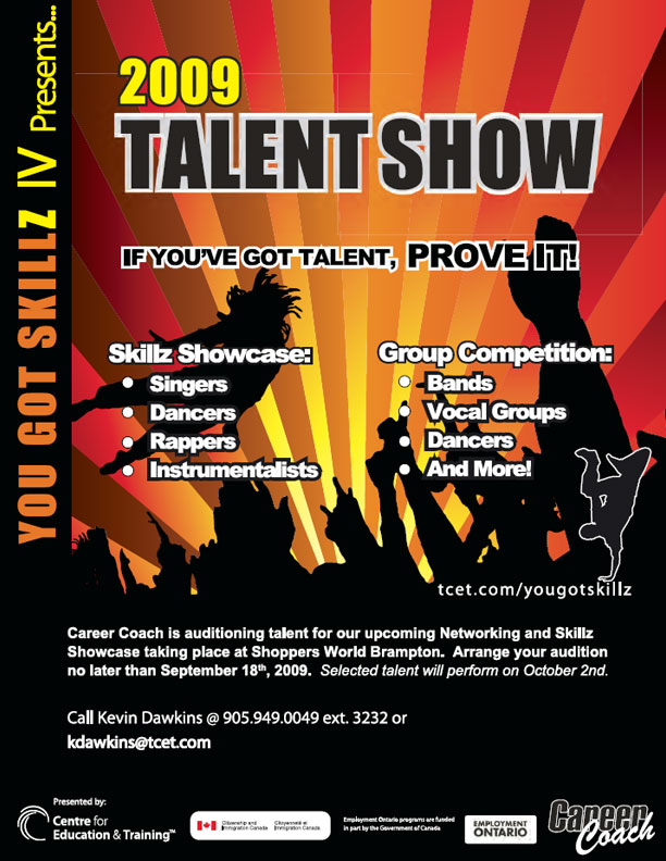 talent show flyer design xv-gimnazija