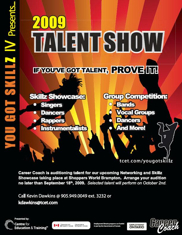 talent flyers - Pinephandshakeapp