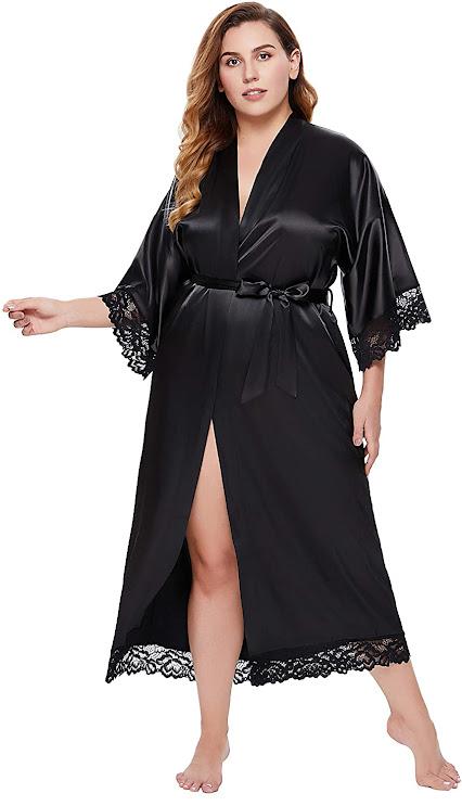 Best Women's Plus Size Satin Robes