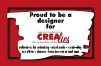 I am proud to be a designer for Crealies