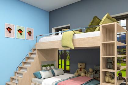 Desain Kamar Tidur Anak Dengan Ranjang Tingkat Atau Bunk Beds