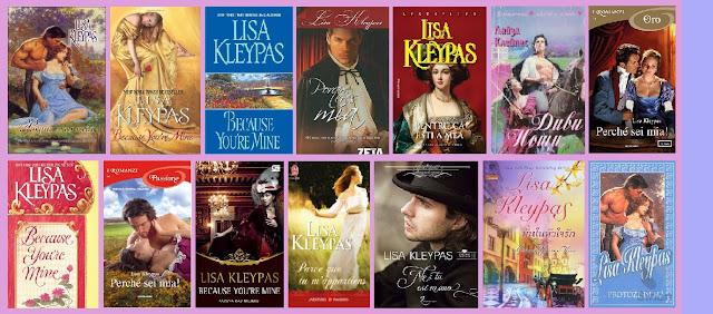 Portadas de la novela romántica histórica Porque eres mía, de Lisa Kleypas