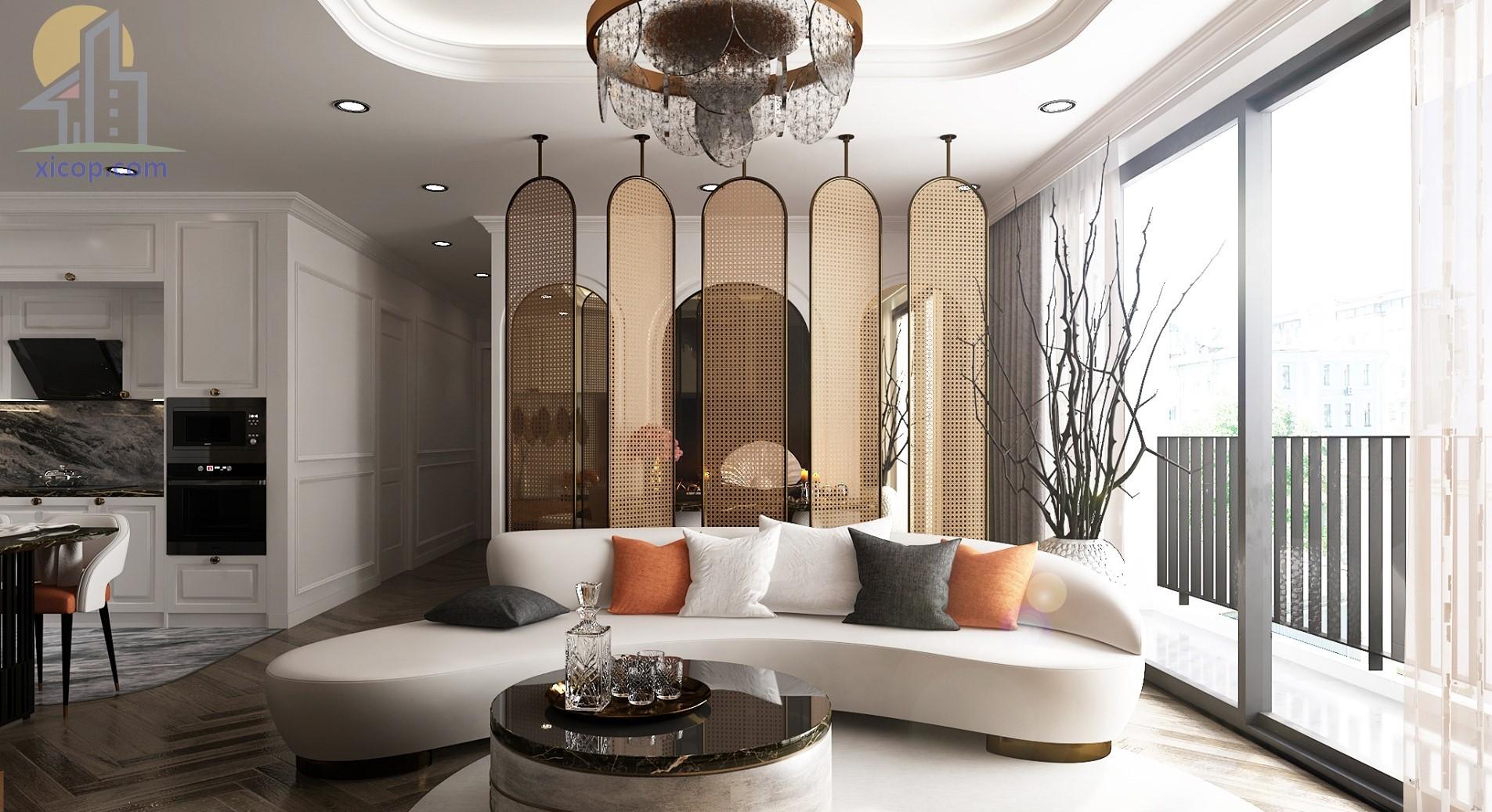Thiết kế nội thất đẹp, nhà ống, phòng khách, phòng ngủ số 1