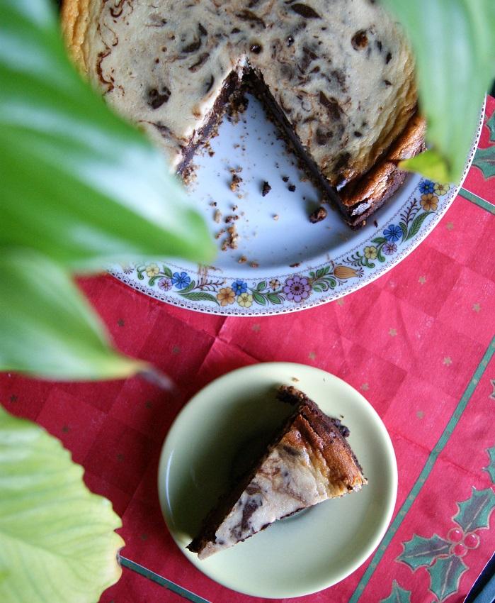 sernik z mascarpone i czekoladą