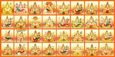 32 Forms of Lord Ganesha - Ganapati