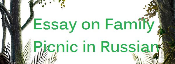 Essay on Family Picnic in Russian Language