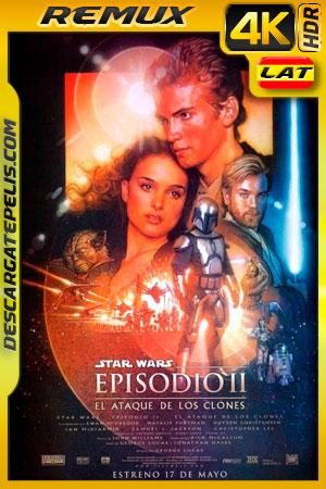 Star Wars Episodio II El ataque de los clones (2002) 4K BDRemux HDR Latino – Ingles