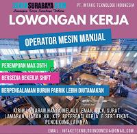 Loker Surabaya di PT. Intake Teknologi Indonesia Juli 2020