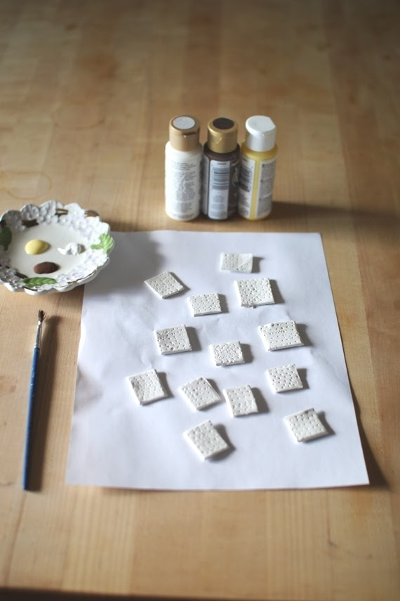 DIY Clay Matzo - Passover and Unleavened Bread craft | Land of Honey