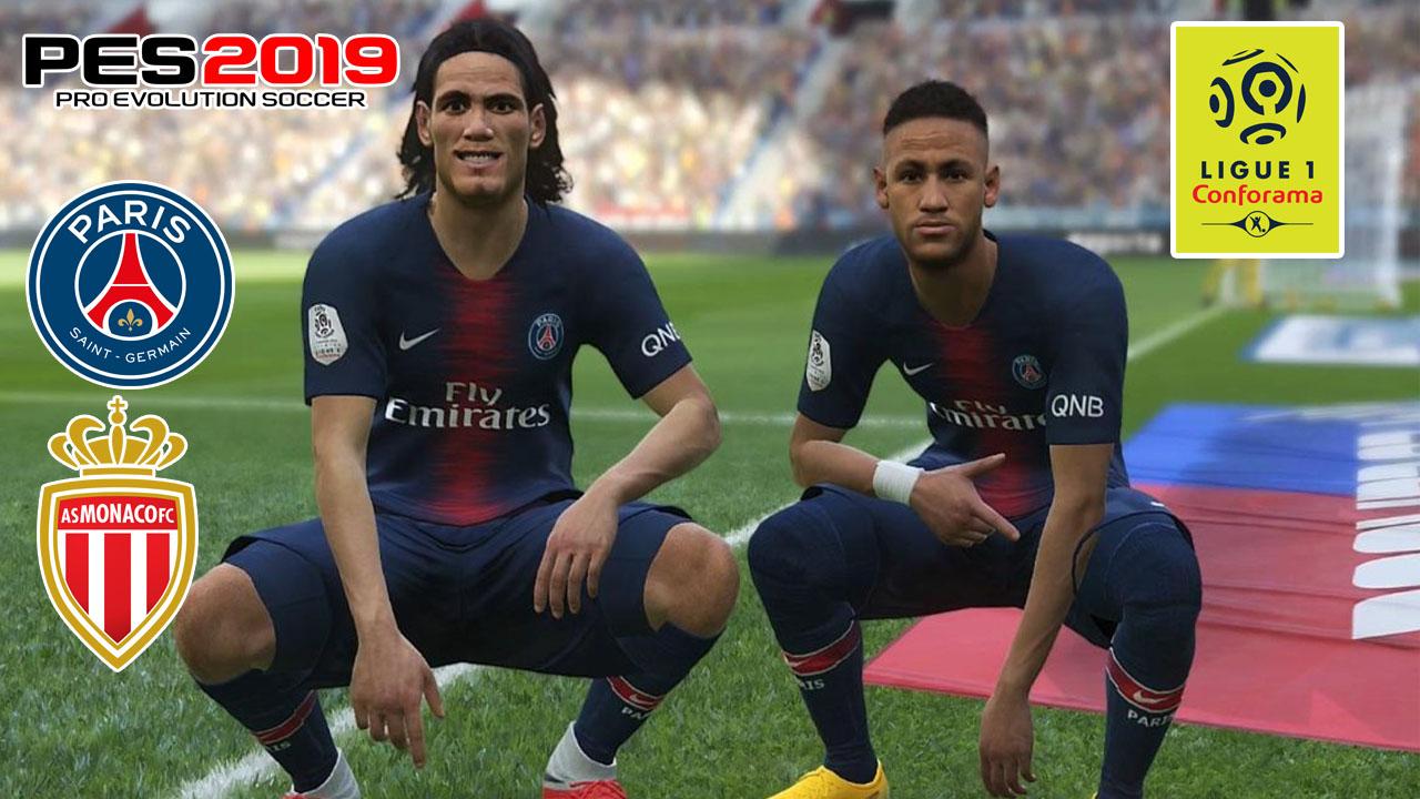 PES 2019   PSG vs Monaco