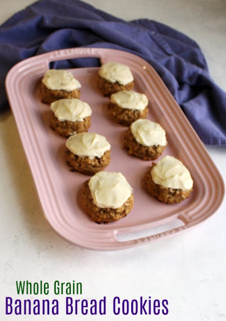 These easy to make cookies are loaded with whole grains but they are still soft and delicious. They are good on their own, but even better topped with maple cream cheese frosting!