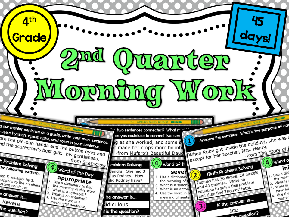 http://www.teacherspayteachers.com/Product/4th-Grade-Morning-Work-PowerPoints-Unit-from-Lightbulb-Minds-1017237