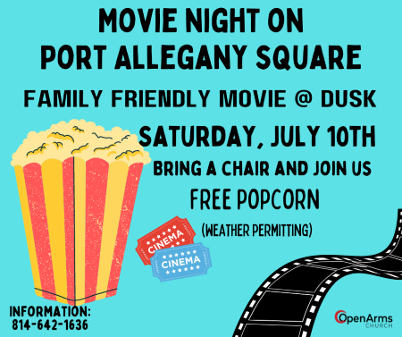 7-10 Movie Night At The Port Allegany Square