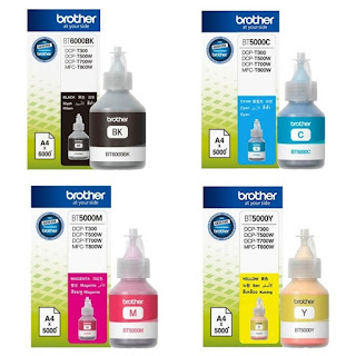 Tinta Brother BT 6000 & BT 5000- Original Tinta brother  T300,T500W,T700W | Gistech - Bali Printer