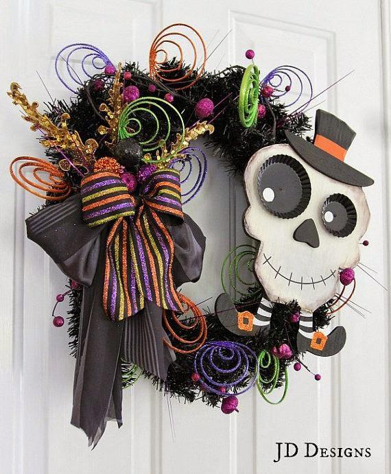 Ideas de c mo decorar una puerta en halloween - Adornos de halloween para hacer en casa ...
