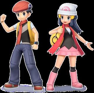 Lucas e Dawn Pokémon Brilliant Diamond e Shining Pearl
