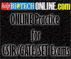 CSIR JRF/NET ONLINE Practice Tests in Life Sciences @ helpbiotechONLINE.com | from Rs 750/- Only