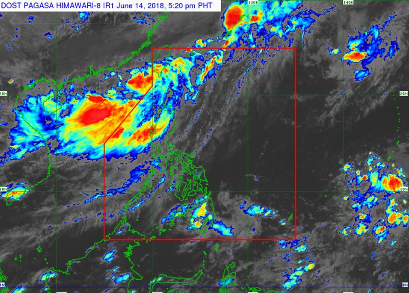 Satellite image of 'Bagyong Ester' as of 5:20 pm, June 14