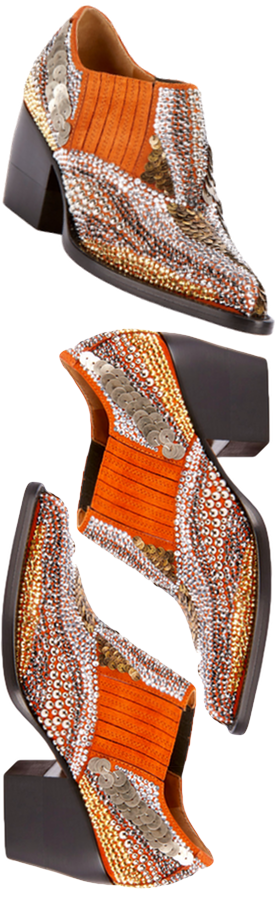 CHLOE RYLEE 90MM BOOTIE with strass details