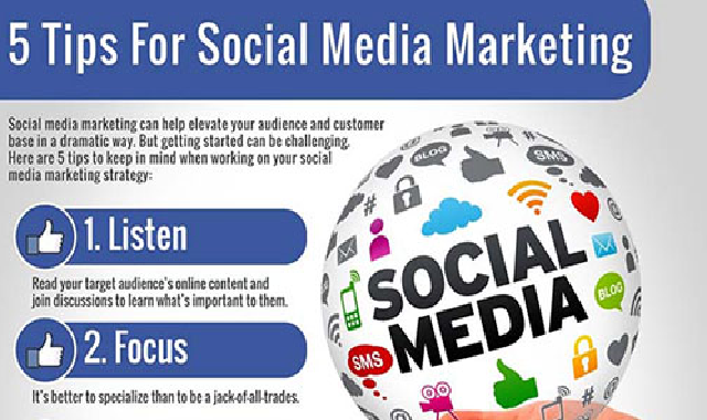5 Tips For Social Media Marketing #infographic