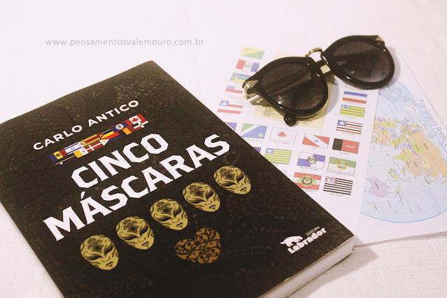 Cinco máscaras, Leitura Coletiva, Pensamentos Valem Ouro, blog literário, Parcerias, Leituras 2020, Dica de leitura. Blog de literatura,