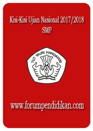 Kisi-Kisi Ujian Nasional SMP Tahun 2017/2018