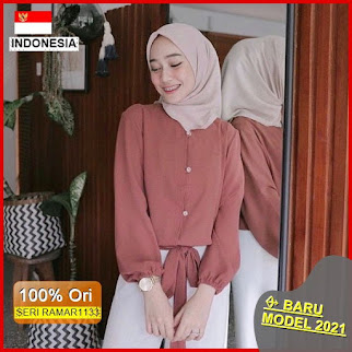 RAMAR1133 NEW SET STEVI TOP BLOUSE BARU 2021