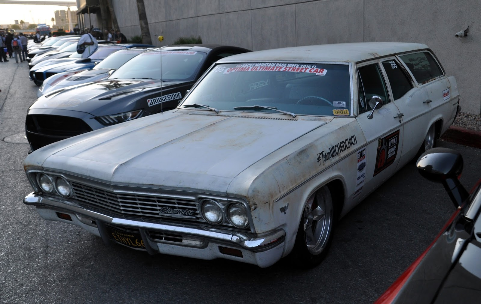 Just A Car Guy: Team Wicked Chick had a cool 66 Chevy Wagon in the ...