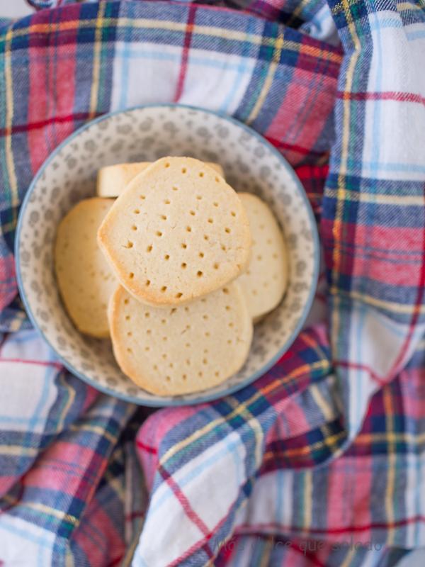 Galletas escocesas de mantequilla. Shortbread Cookies.
