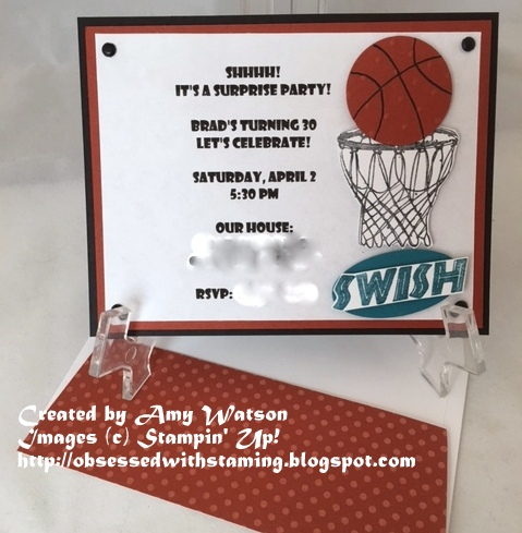 Obsessed With Stamping: Basketball Birthday