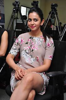 Actress Rakul Preet Singh Latest Stills in Floral Dress at Infinity Ride 2016 Curtain Raiser Pressmeet  0032