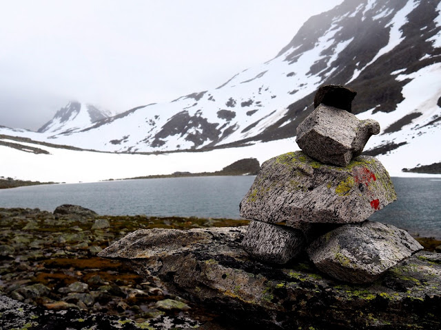 Troll, jezero, příroda, Jotunheimen, Norsko