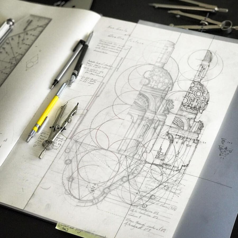 09-Proportions-in-architectural-design-Drawing-Jerome-Tryon-www-designstack-co