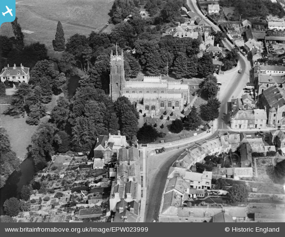 Aerial Photo of St Peter's Church 1928