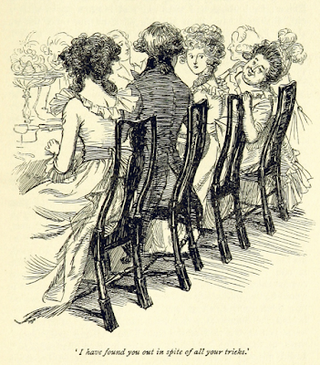 The Dashwoods at dinner with the Middletons   Sense and Sensibility by Jane Austen (1811) Illustration by Hugh Thomson (1896 edition)