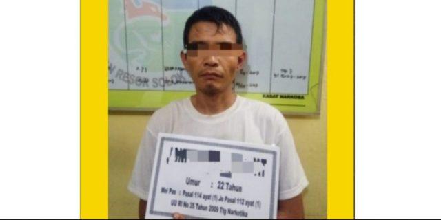 Petani Asal Pasaman Ditangkap Bawa Shabu di Depan SPBU KTK Kota Solok